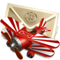 Red Biplane Mail-128x128.png